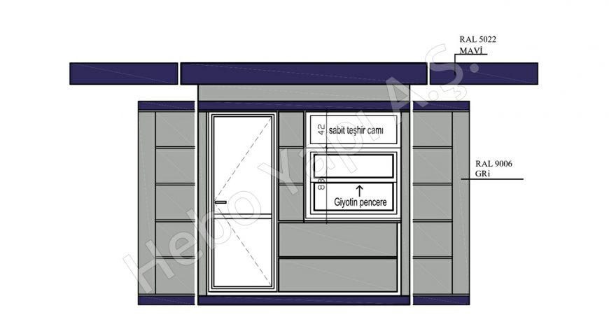 11 m2 Satış Büfesi