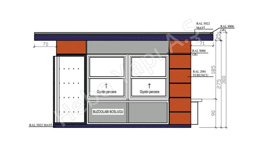 12,5 m2 Satış Büfesi
